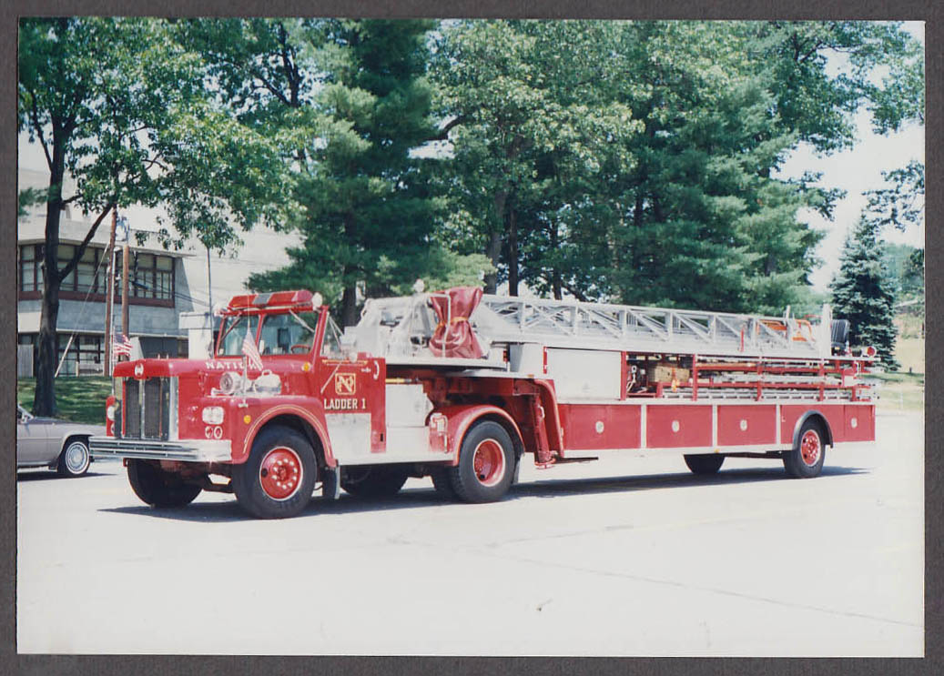 Natick MA FD Maxim Ladder Truck Engine #1 fire truck photo