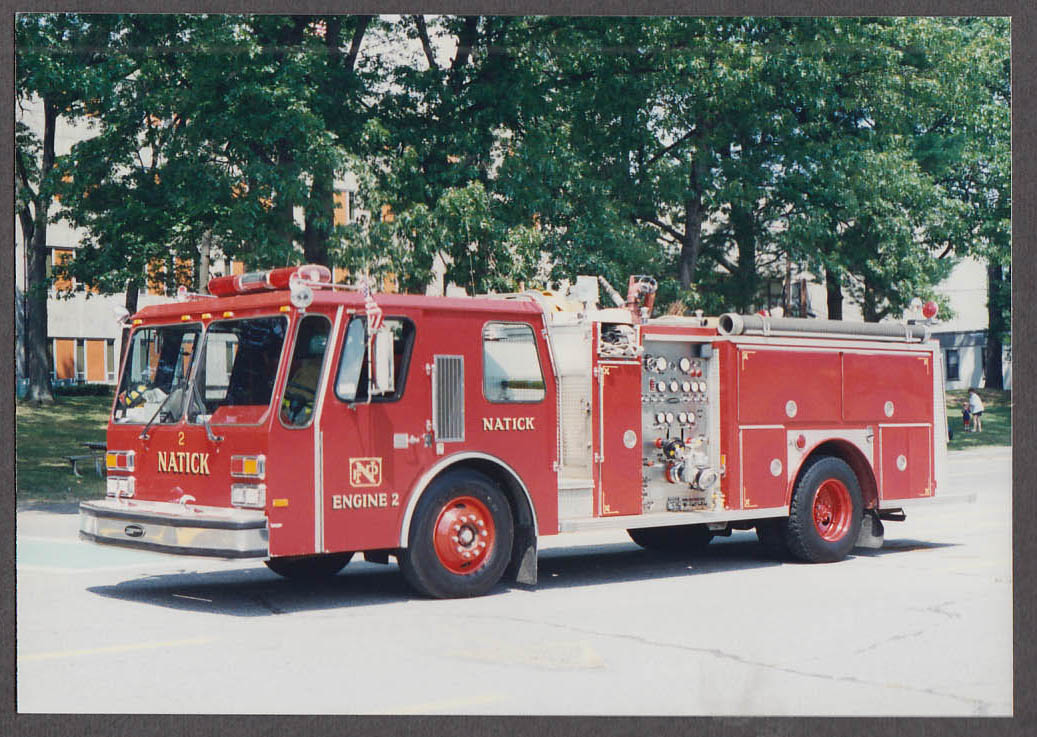 Natick MA FD E-One Pumper Engine #2 fire truck photo