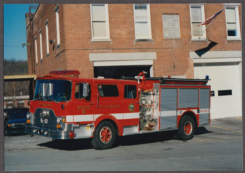 Fitchburg MA FD Pierce Pumper Engine #2 fire truck photo