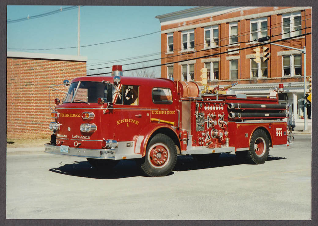 Uxbridge MA FD American LaFrance Pumper Engine #1 fire truck photo