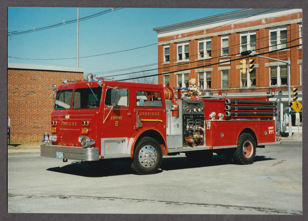 Uxbridge MA FD Maxim Pumper Engine #2 fire truck photo