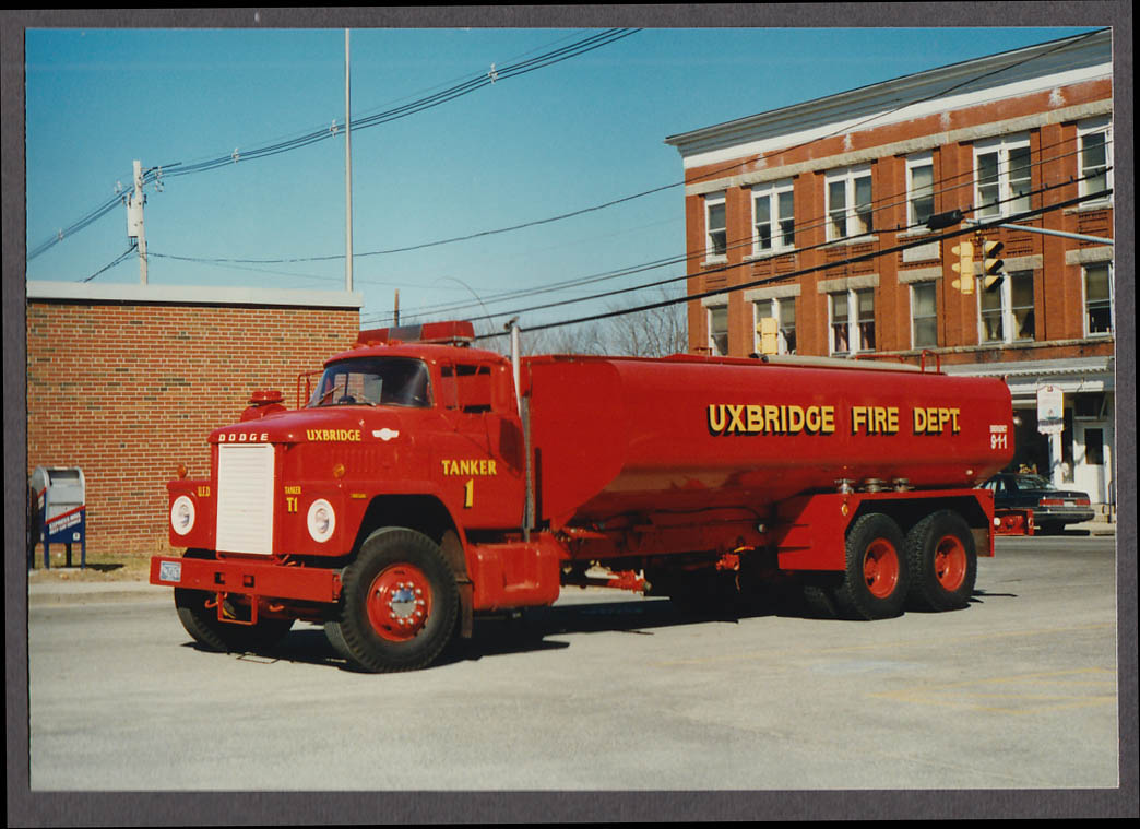 Uxbridge MA FD Dodge Tanker Truck Engine #1 fire truck photo