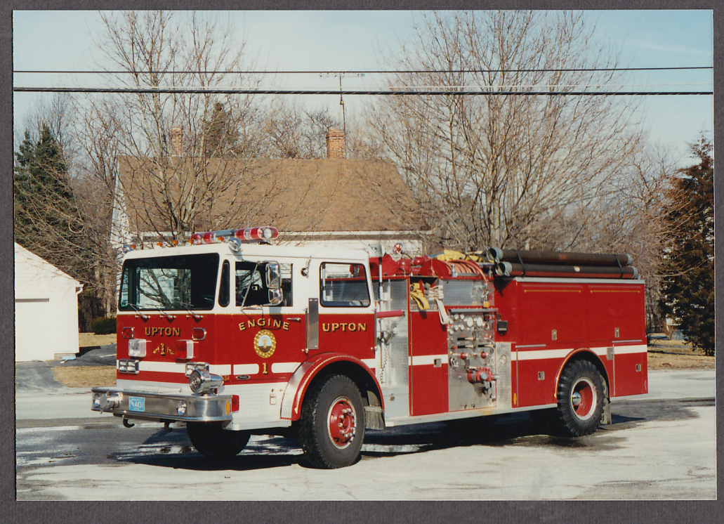 Upton MA FD Murphy Pumper Engine #1 fire truck photo