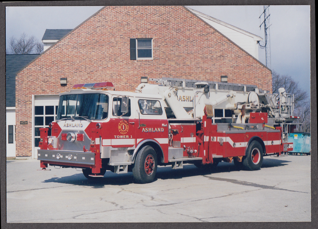 Ashland MA FD Mack Baker Ladder Tower Engine #1 fire truck photo
