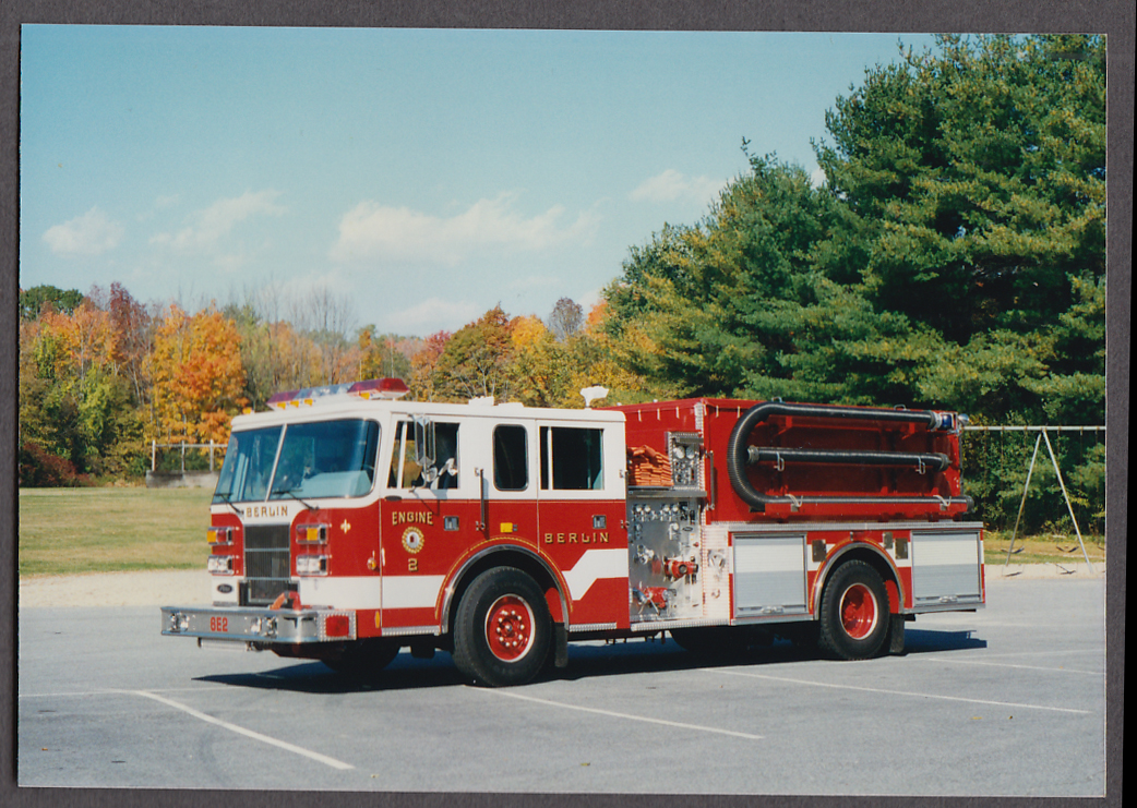 Berlin MA FD Pierce Pumper Engine #2 fire truck photo