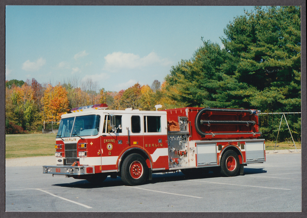 Image for Berlin MA FD Pierce Pumper Engine #2 fire truck photo