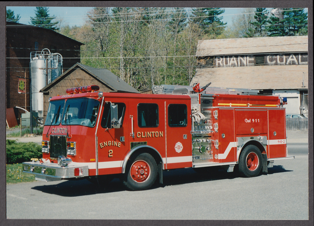 Image for Clinton MA FD E-One Pumper Engine #2 fire truck photo