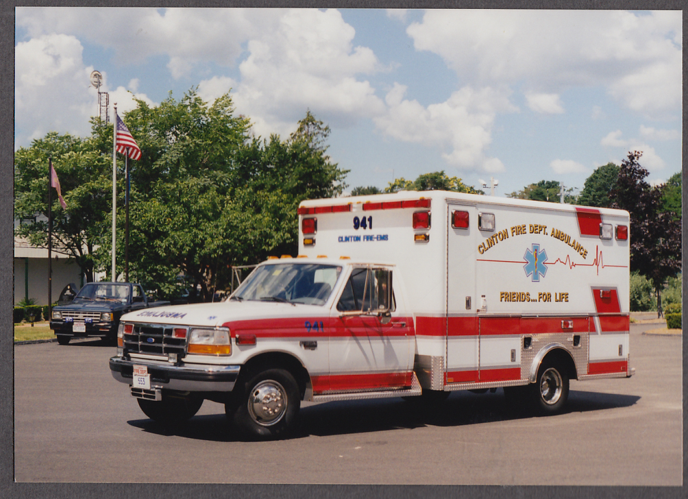 Image for Clinton MA FD Ford  F-350 Ambulance fire truck photo