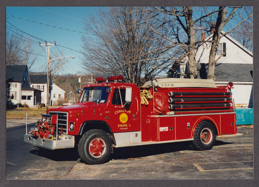 Image for Charlton MA FD International S-1800 Pumper Engine #5 fire truck photo
