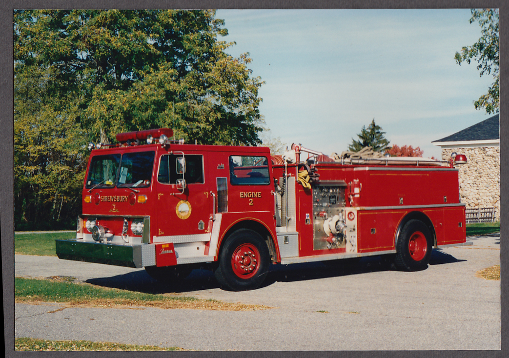 Shrewsbury MA FD Farrar Pumper Engine #2 fire truck photo