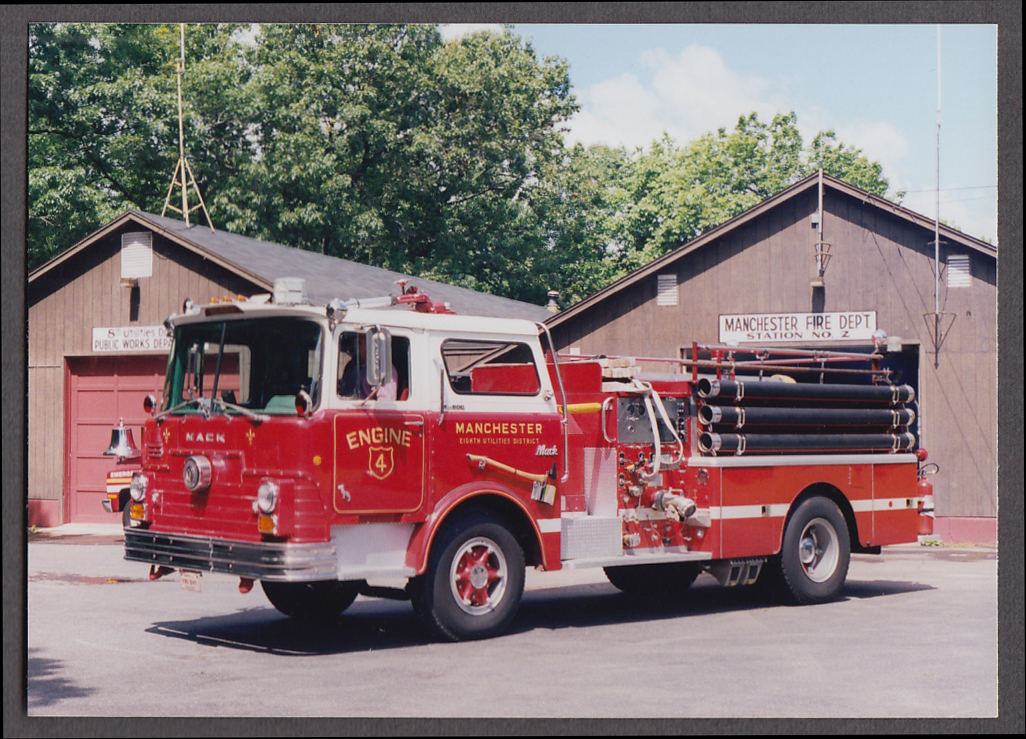 Image for Manchester NH FD Mack Pumper Engine #4 fire truck photo