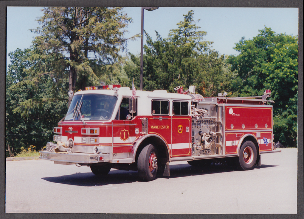 Image for Manchester FD American LaFrance Pumper Engine #1 fire truck photo