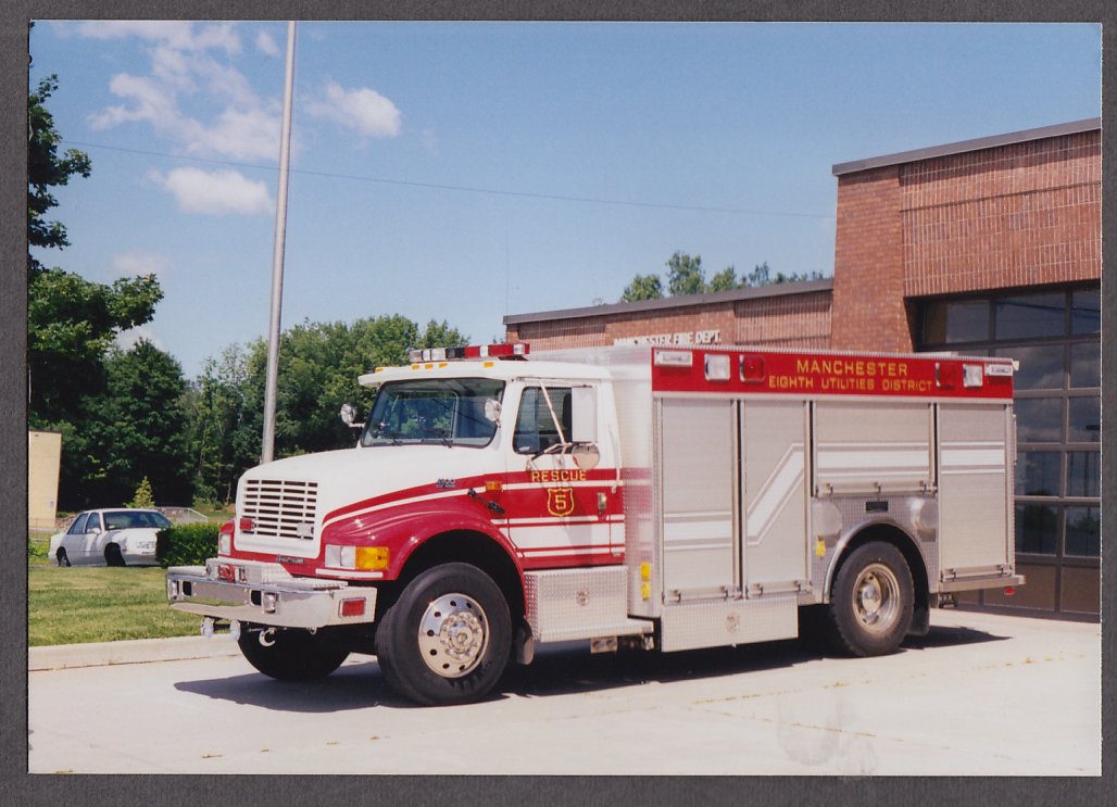 Image for Manchester NH FD International 4900 Rescue Truck #5 fire truck photo