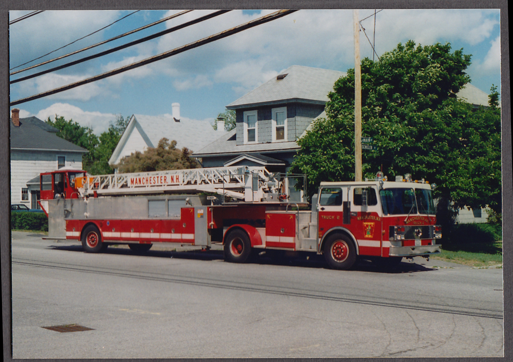 Image for Manchester NH FD Ladder Truck Engine #2 fire truck photo