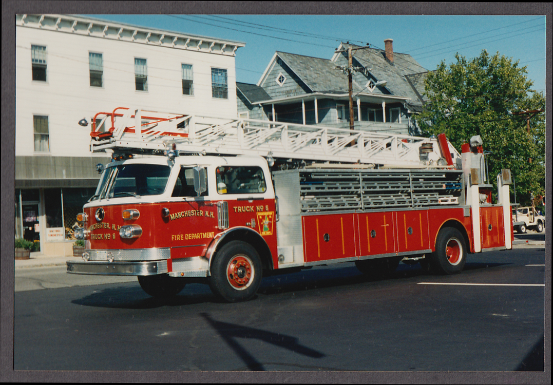 Image for Manchester NH FD American LaFrance Ladder Truck Engine #6 fire truck photo