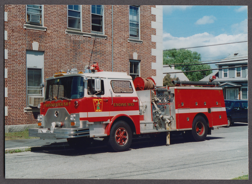 Manchester NH FD Mack Pumper Engine #13 fire truck photo
