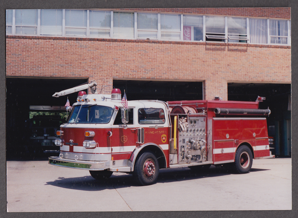 Manchester NH FD American LaFrance Pumper Engine #2 fire truck photo