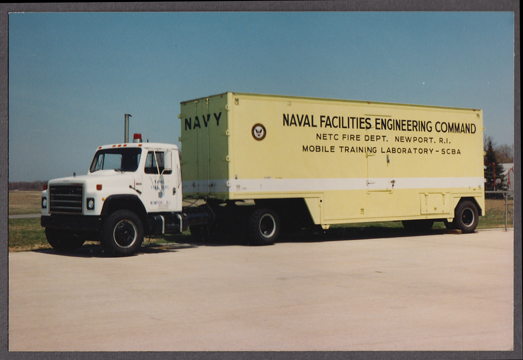 US Naval Facilities Engineering Command Newport RI mobile lab truck photo