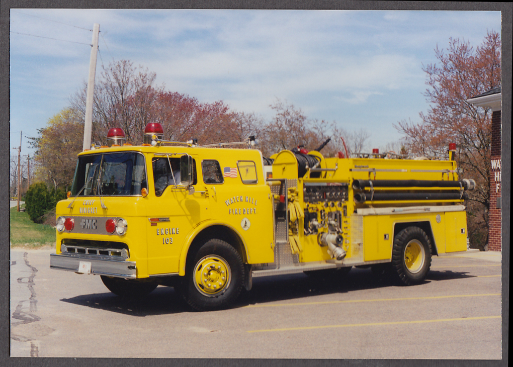 Watch Hill RI FD FMC Pumper Engine #103 fire truck photo