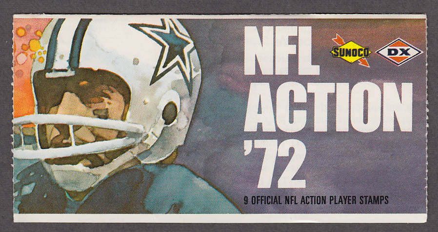 1972 NFL '72 Sunoco DX stamp set of 9 HOF Raiders George Blanda + Lynn Dickey +