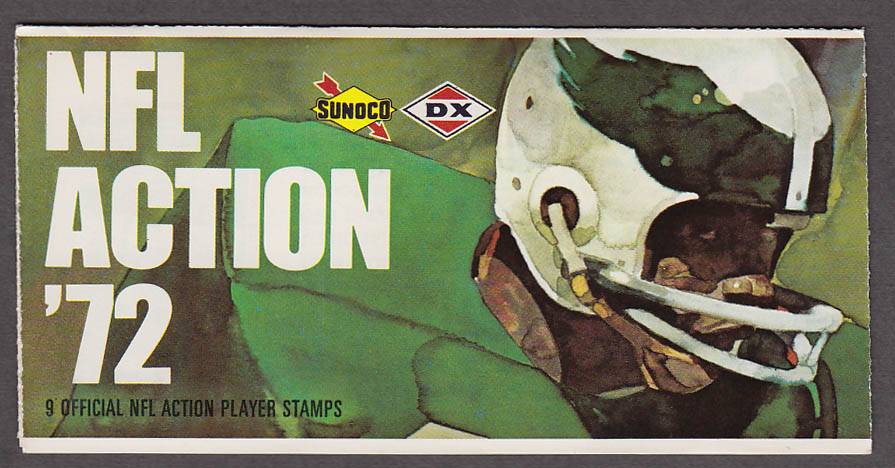 1972 NFL '72 Sunoco DX stamp set of 9 HOF Lions Lem Barney +