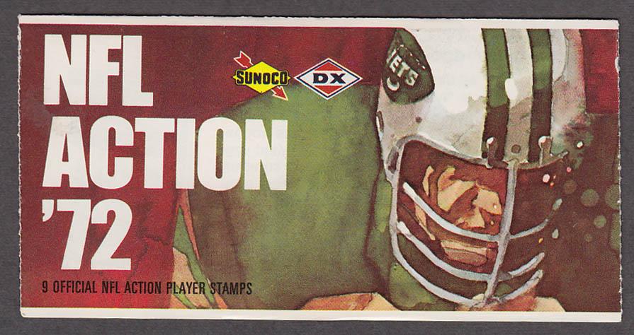 1972 NFL '72 Sunoco DX stamp set of 9 HOF Cardinals Dierdorf + Duane Thomas