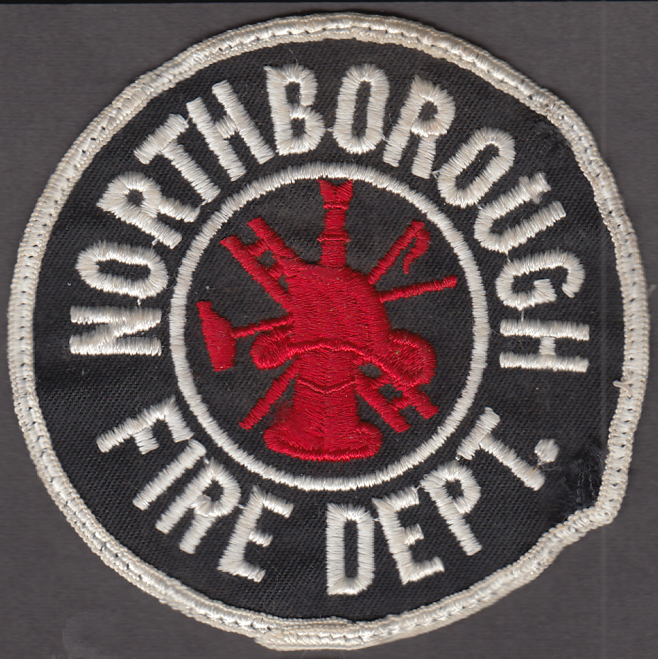 "Northborough Massachusetts cloth patch 4"" diameter used"
