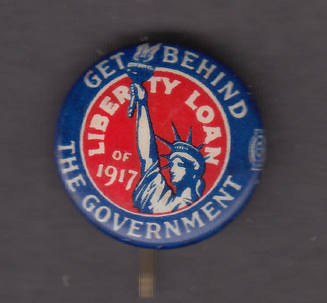 Get Behind the Government Liberty Loan for 1917 pinback button