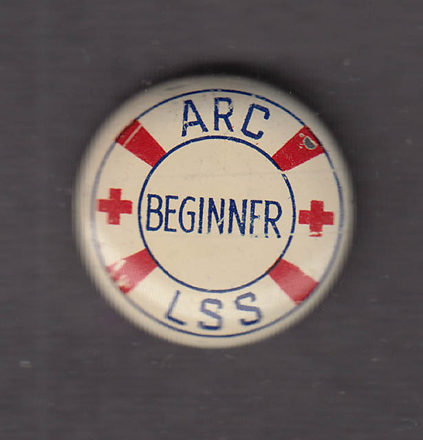 American Red Cross Life Saving Beginner pinback button 1940s