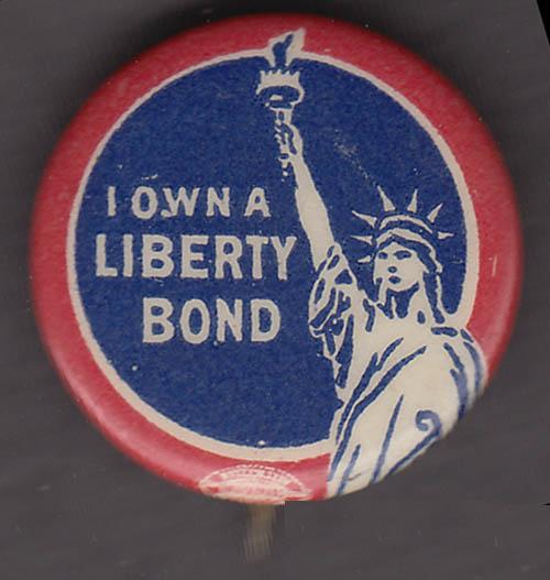 I Own a Liberty Loan pinback button 1917 World War I