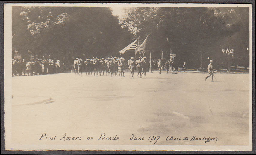 1st American on Parade 6 1917 Bois de Boulogne miniature World War I photo
