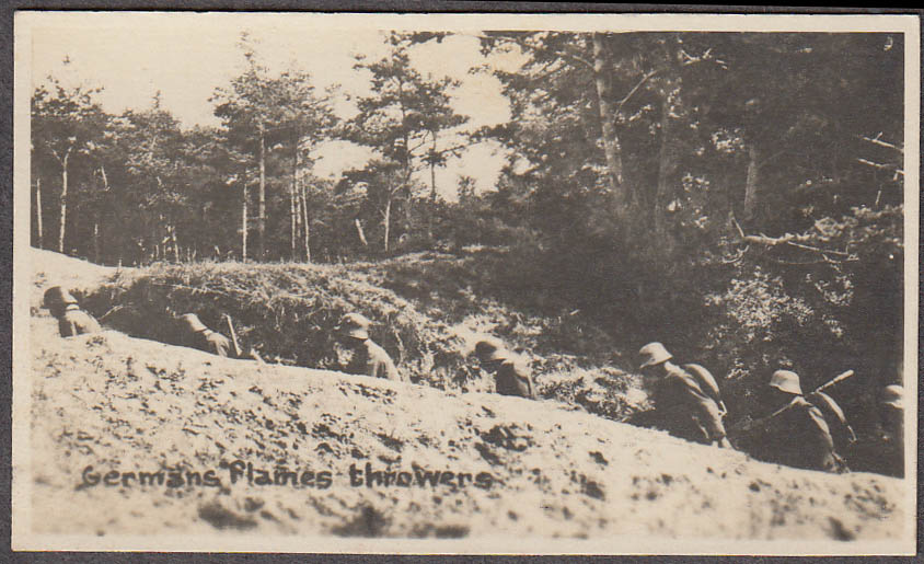 Image for Germans in trenches with flame throwers miniature World War I photo