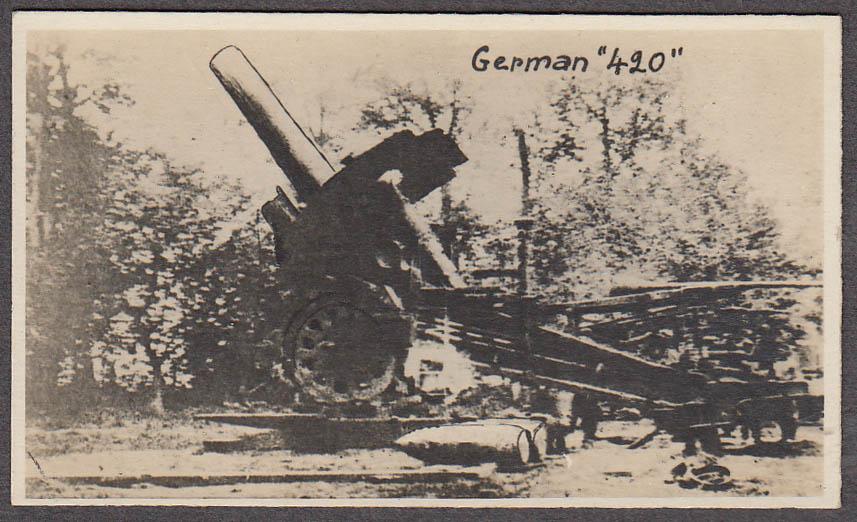 German 420 artillery piece miniature World War I photo