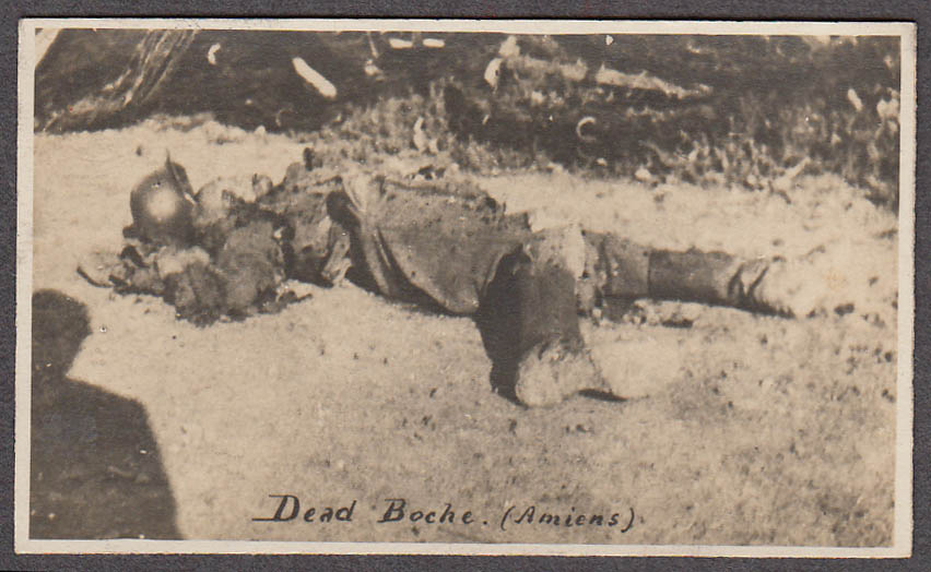 German fatality at Amiens France miniature World War I photo