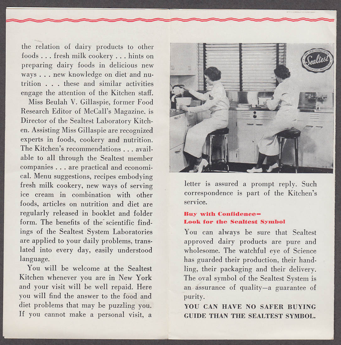Image for Sealtest Making Life Safer for Millions Dairy Laboratory folder 1938