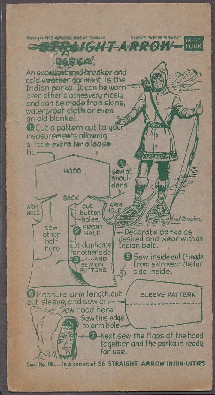 Image for Nabisco Straight Arrow Card Book 4 #10 Indian Parka how-to 1950