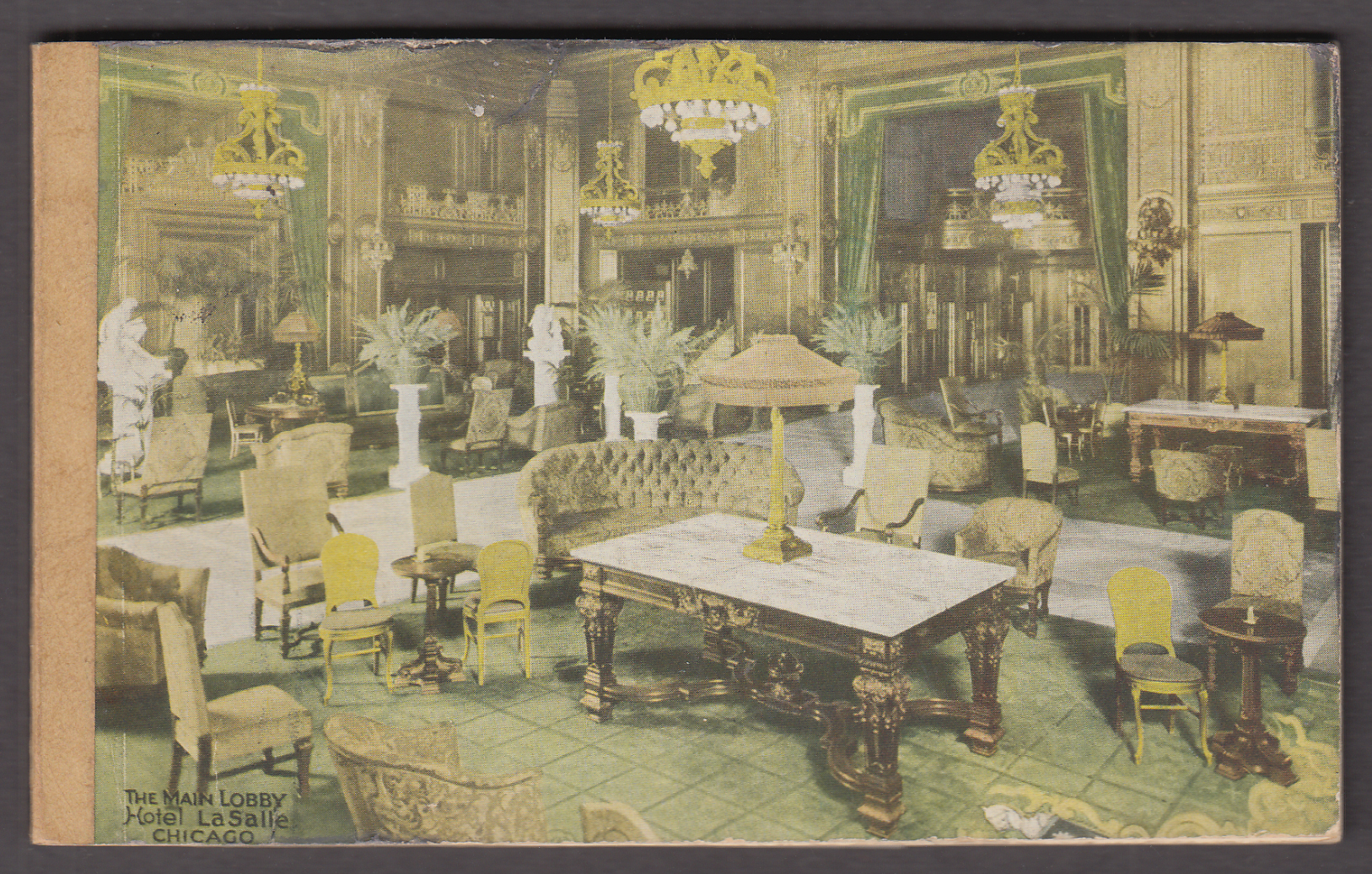 Image for Hotel La Salle Chicago Main Lobby Note Pad ca 1915