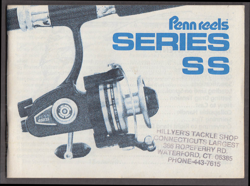 Penn Series SS Spinning Reels Instructions & Parts booklet ca 1970s