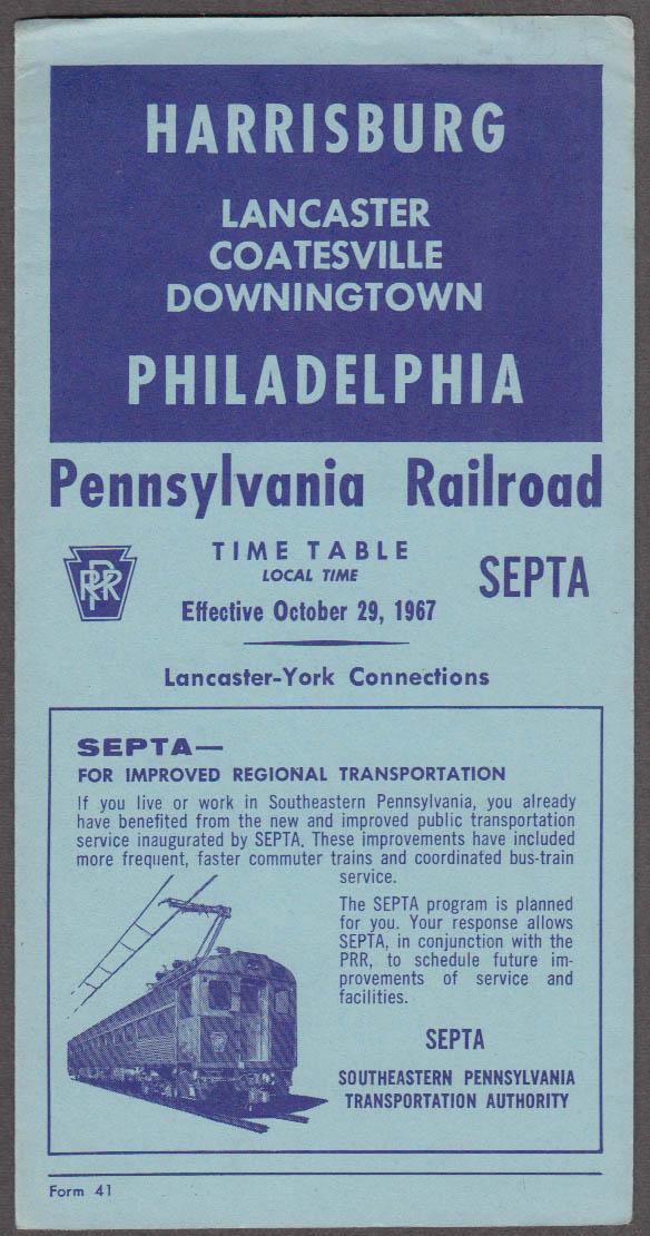 Pennsylvania RR Harrisburg-Philadelphia SEPTA timetable 10