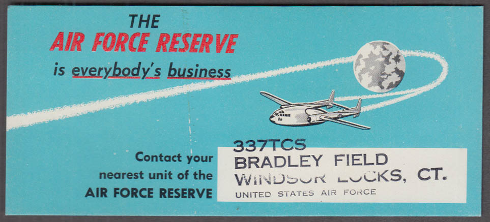 Air Force Reserve is Everybody's Business blotter Packet around moon 1950s