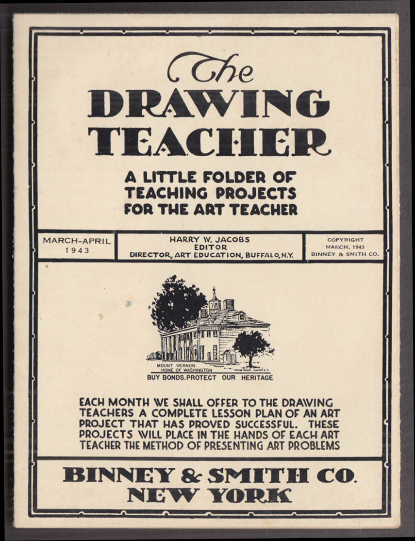 Binney & Smith Crayons The Drawing Teacher projects 3-4 1943