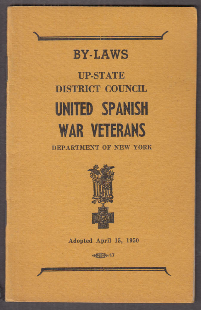 United Spanish War Veterans Dept of New York By-Laws 1950