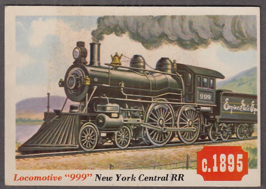 1955 Topps Rails & Sails #1 New York Central Locomotive 999