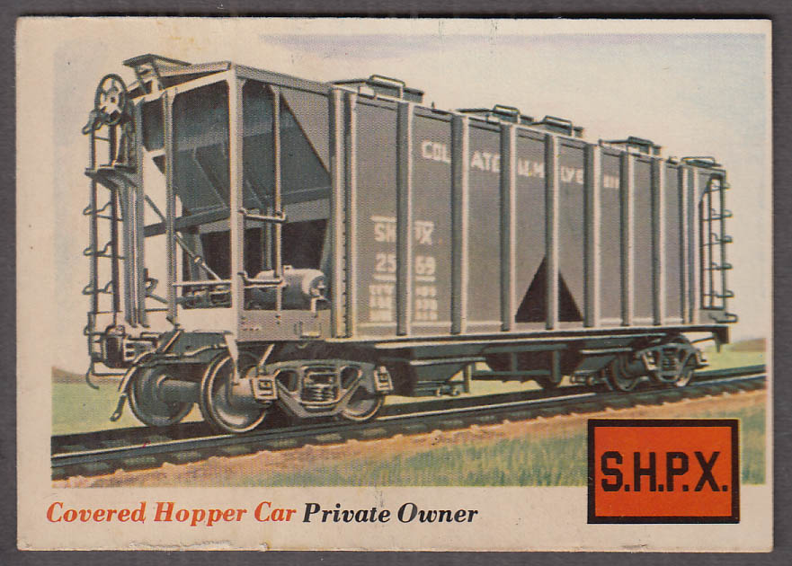 1955 Topps Rails & Sails #2 Colgate Palmolive Covered Hopper Car