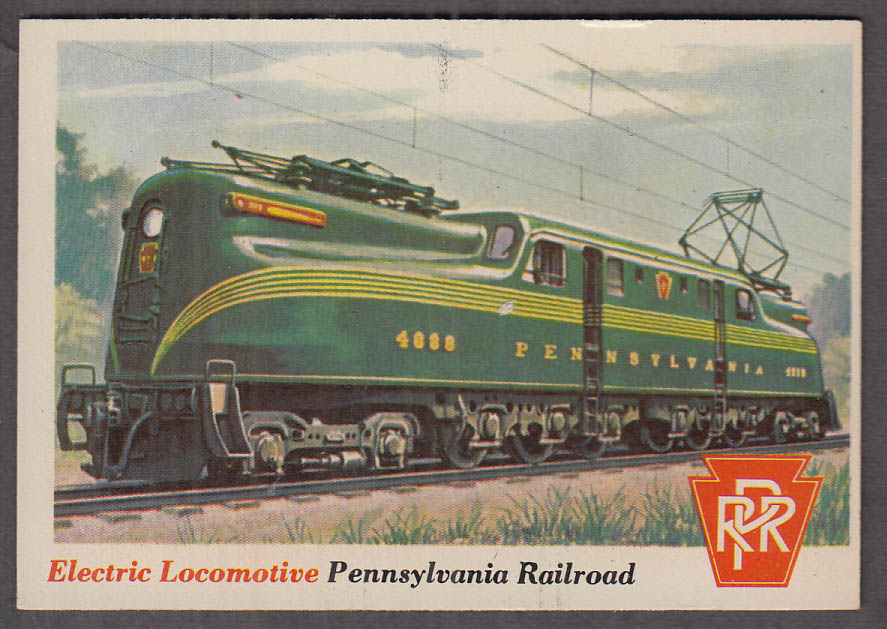 1955 Topps Rails & Sails #3 Pennsylvania RR GG1 Electric Locomotive