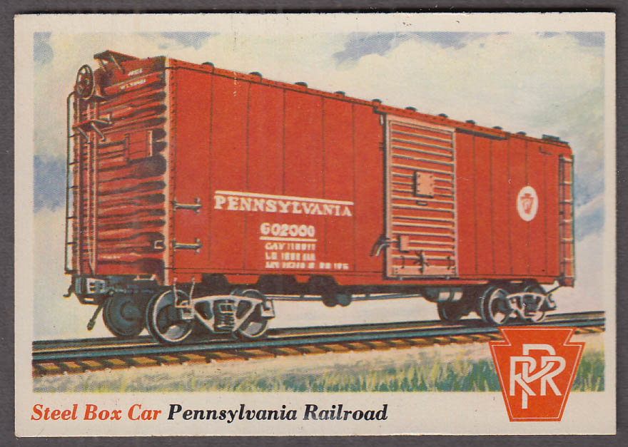 1955 Topps Rails & Sails #20 Pennsylvania Railroad Steel Box Car