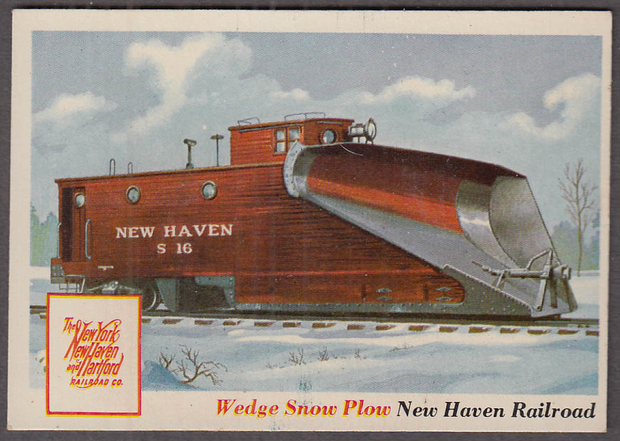 1955 Topps Rails & Sails #31 New York New Haven  & Hartford RR Wedge Snow Plow