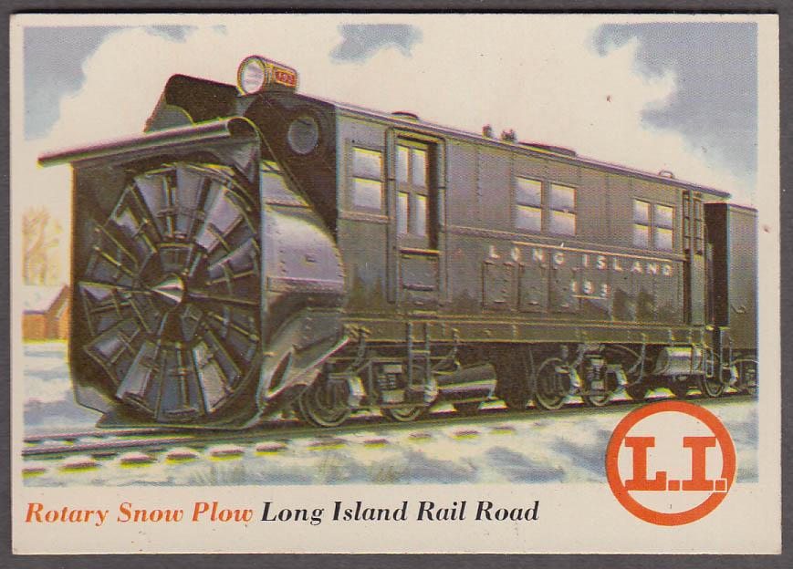 1955 Topps Rails & Sails #34 Long Island RR Rotary Snow Plow