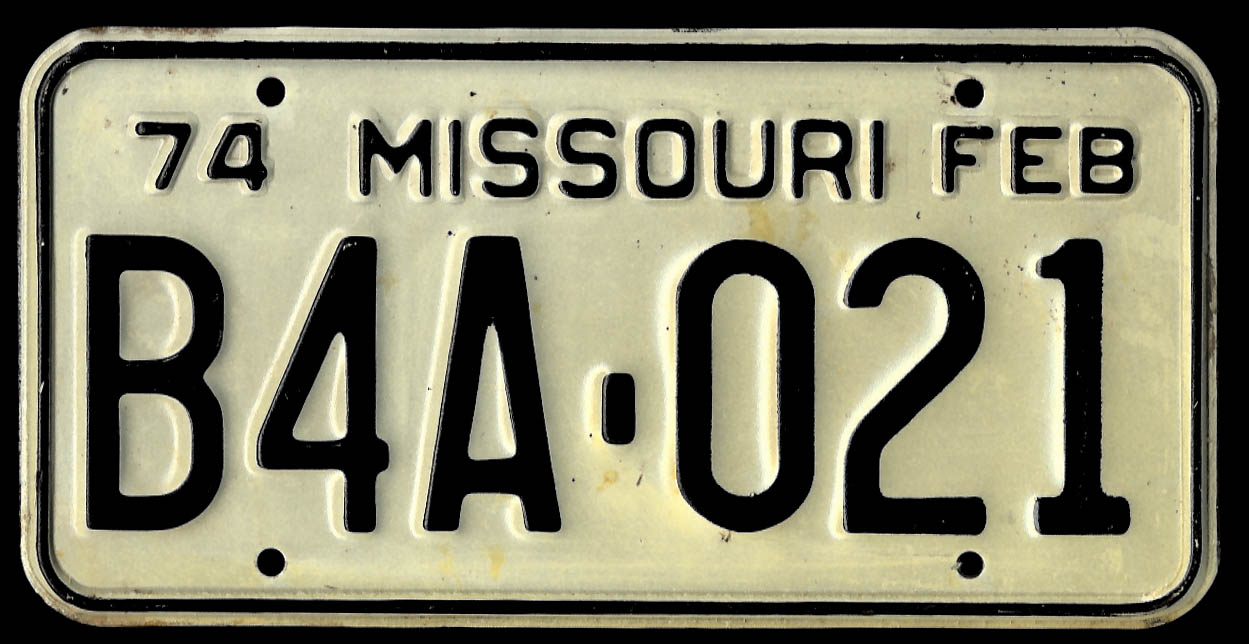 Image for PAIR Missouri license plates 1974 B4A-021 used