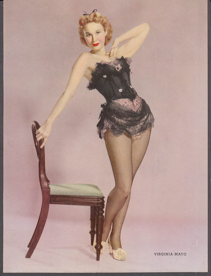 Actress Virginia Mayo pin-up 34-24-34 portrait by Six 1953
